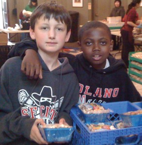 Volunteers of all ages work at The Food Pantry